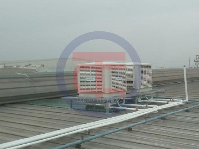 Hệ thống máy làm mát được lắp đặt tại Brother Hải Dương