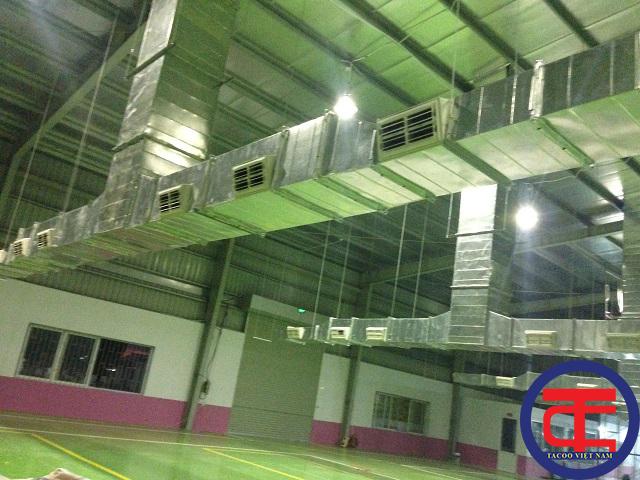 Hệ thống thông gió kết hợp làm mát nhà xưởng