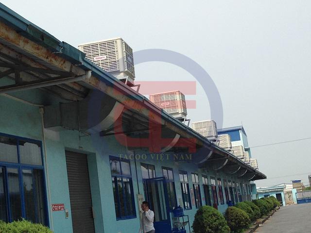 Hệ thống máy làm mát được lắp đặt hoàn chỉnh trên máy nhà xưởng