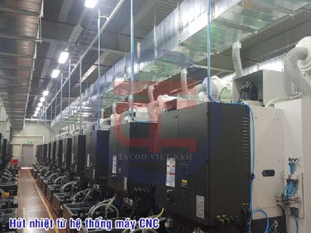Hệ thống hút khí nóng được lắp đặt hoàn chỉnh bởi Tacoo Việt Nam