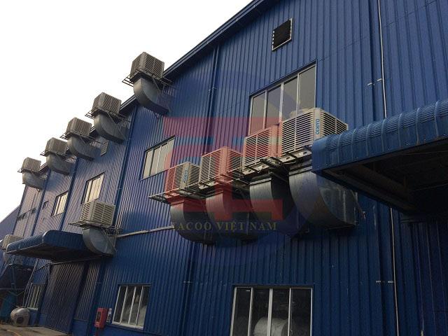 Hệ thống máy làm mát tại nhà xưởng Thái Dương 1