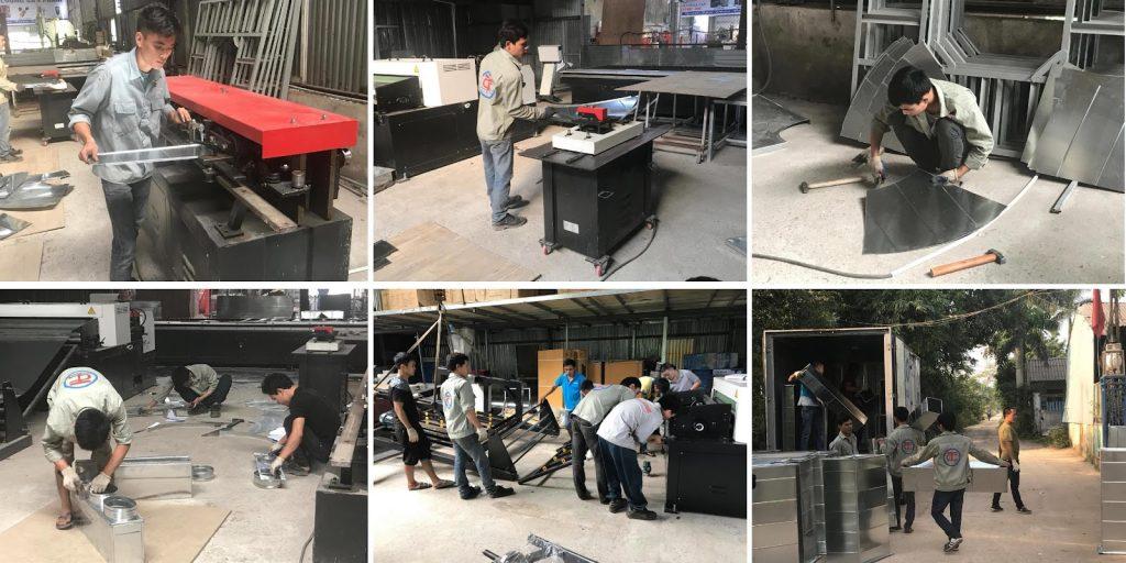 Tổng hợp một số máy móc tham gia vào quá trình sản xuất