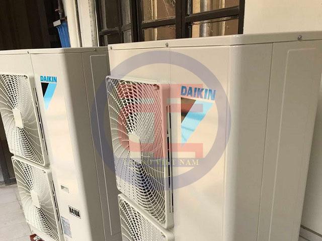 Hệ thống dàn nóng điều hoà được lắp đặt hoàn chỉnh