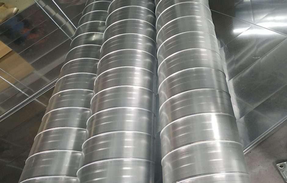 Sản phẩm ống gió tròn được sản xuất tại Kaiyo Việt Nam