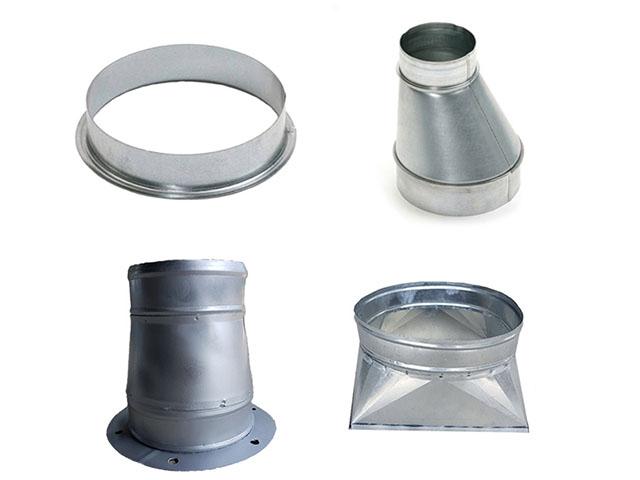 Một số sản phẩm phụ kiện ống gió tròn
