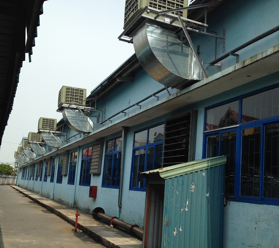 Hệ thống làm mát nhà xưởng được lắp đặt bởi đơn vị Kaiyo Việt Nam