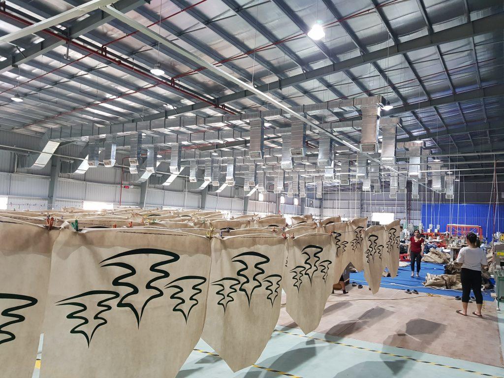 Hệ thống thông gió và làm mát nhà xưởng nhà máy bao bì Thái Dương
