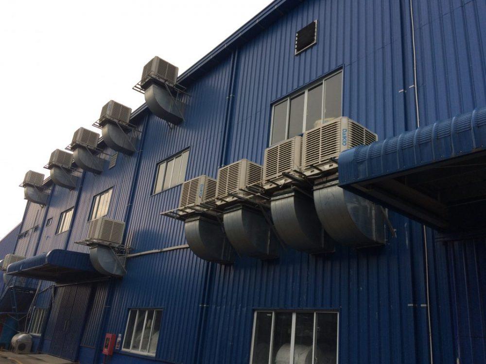 Hệ thống làm mát nhà xưởng được lắp đặt tại đơn vị Thái Dương