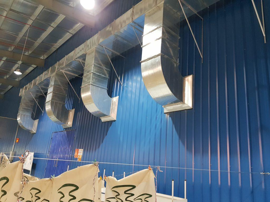 Lắp đặt hệ thống làm mát nhà xưởng tại nhà máy Thái Dương