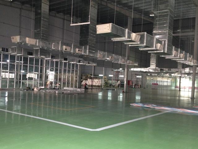 Hệ thống thông gió làm mát nhà xưởng được lắp đặt bởi Kaiyo Việt Nam