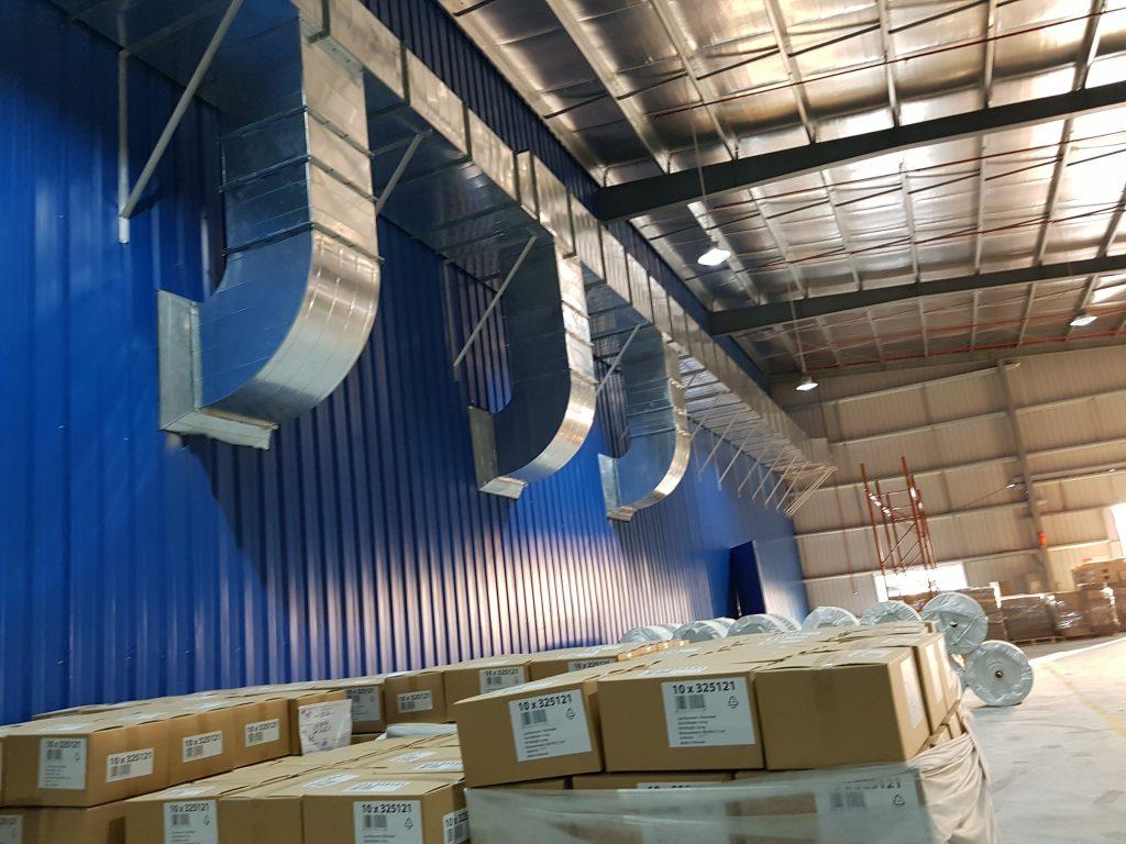 Hệ thống làm mát được lắp đặt hoàn chỉnh tại nhà máy Thái Dương