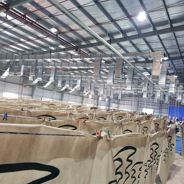 Hệ thống làm mát nhà xưởng được lắp đặt tại nhà máy Thái Dương