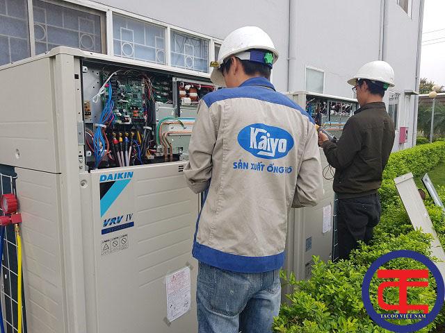 Nghiệm thu hoàn tấy hệ thống điều hoà trung tâm cho nhà máy Midori Vĩnh PHúc năm 2019