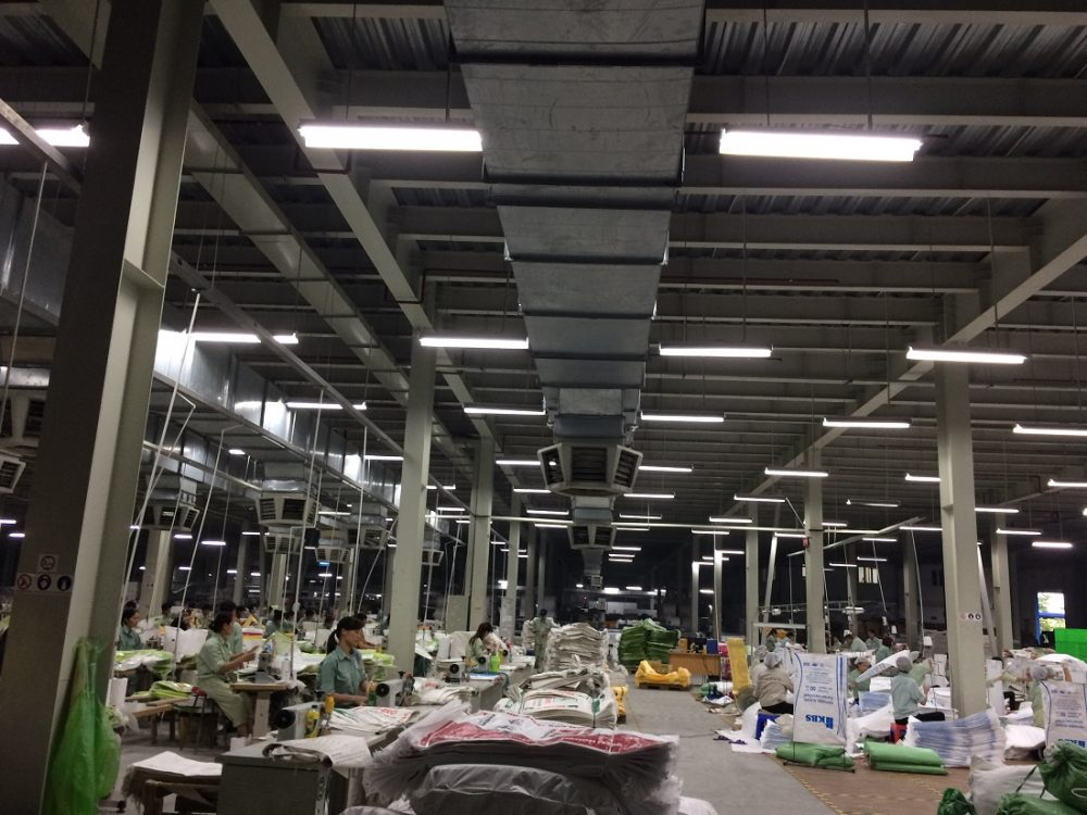 Hệ thống thôgn gió nhà xưởng được lắp đặt bởi Kaiyo Việt Nam