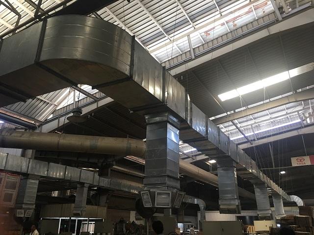Hệ thống thông gió nhà xưởng được lắp đặt tại nhà máy gạch Tasa