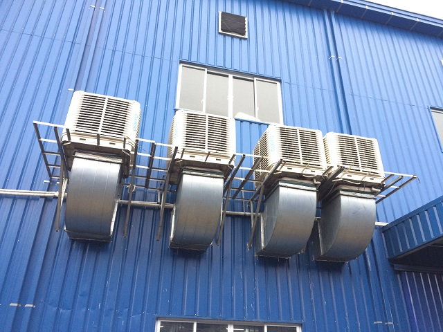 Hệ thống thông gió kết hợp với làm mát nhà xưởng