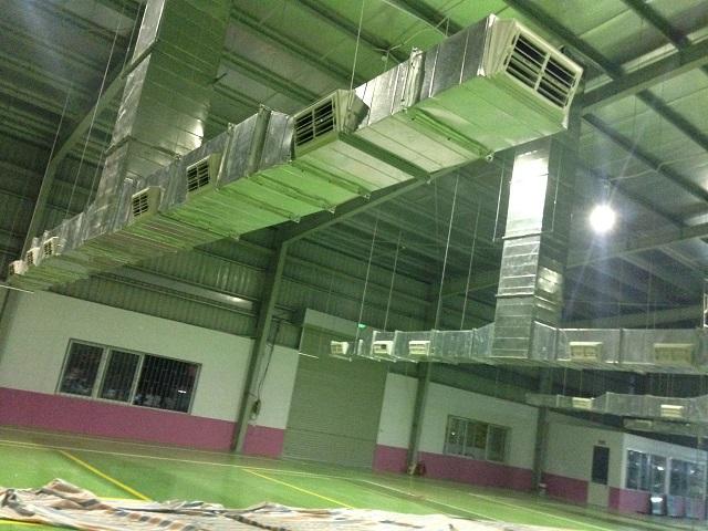 Hệ thống thông gió được lắp đặt tại nhà máy ABC Bắc Ninh