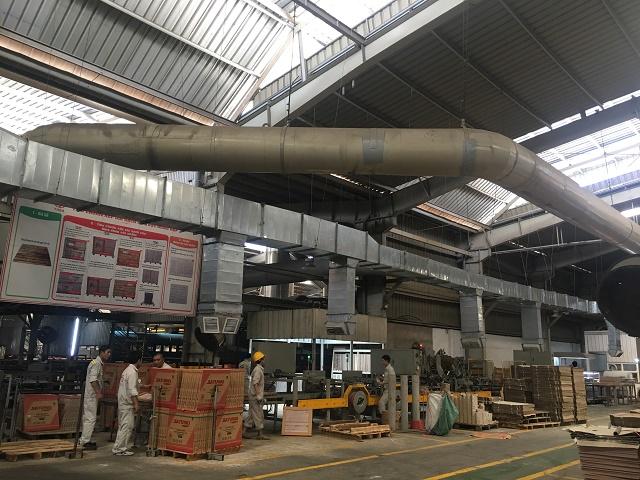 Hệ thống làm mát nhà xưởng được lắp đặt hoàn chỉnh