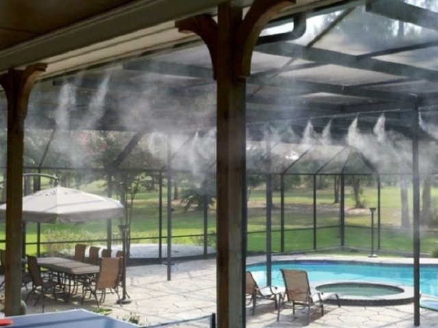 Hệ thống phun sương được lắp đặt hoàn chỉnh