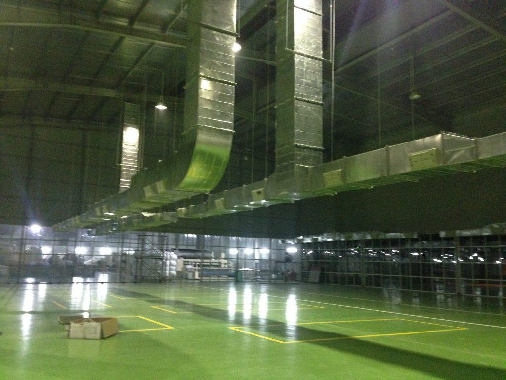 Hệ thống ống gió công ty ABC Bắc Ninh