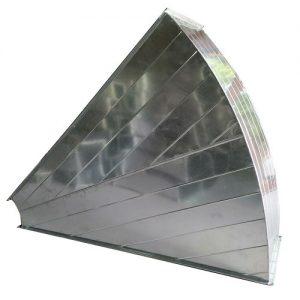 Sản phẩm phụ kiện cút gió vuông dạng 45 độ