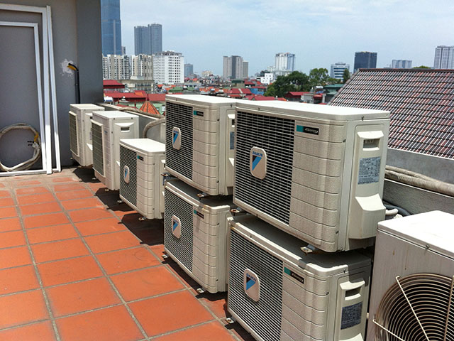 Hệ thống điều hòa không khí được lắp đặt hoàn chỉnh