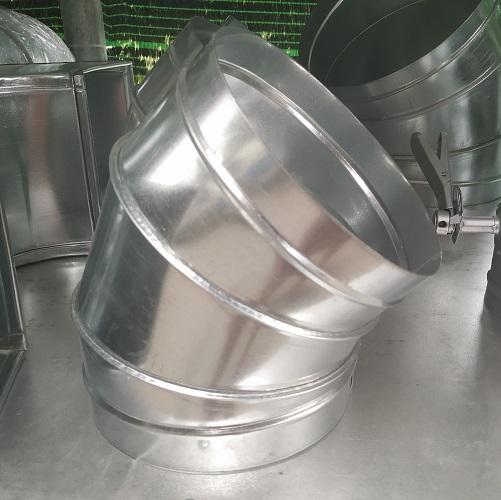 Sản phẩm cút gió tròn 45 độ được gia công sản xuất tại Kaiyo Việt Nam