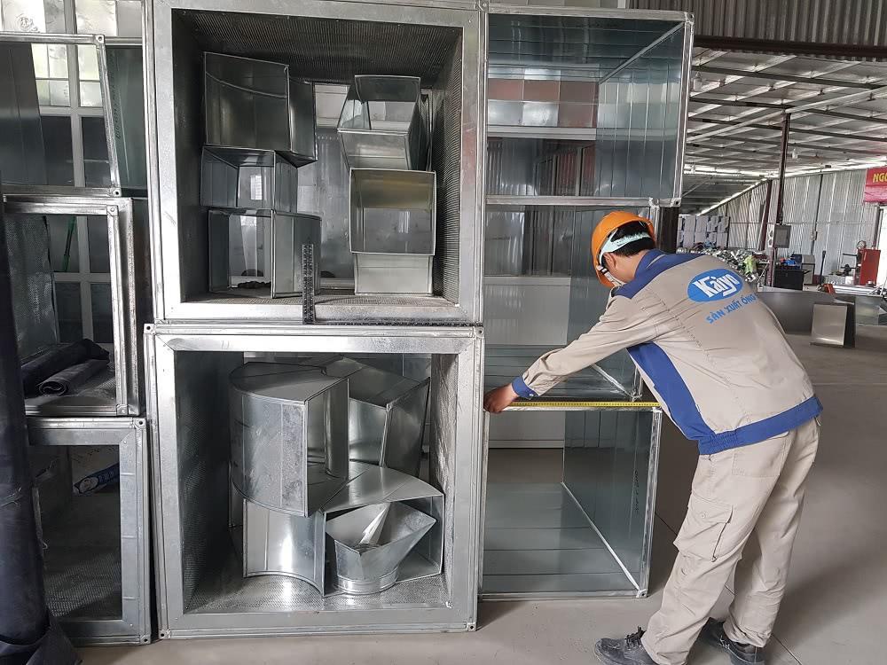 Hệ thống sản phẩm ống gió cùng phụ kiện được sản xuất tại Kaiyo Việt Nam