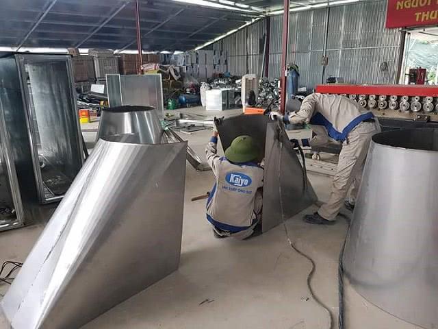 Sản xuất ống gió và phụ kiện được ghi nhận tại Kaiyo Việt Nam