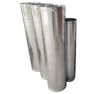 Sản phẩm ống gió tròn trơn tôn mạ kẽm 0.58