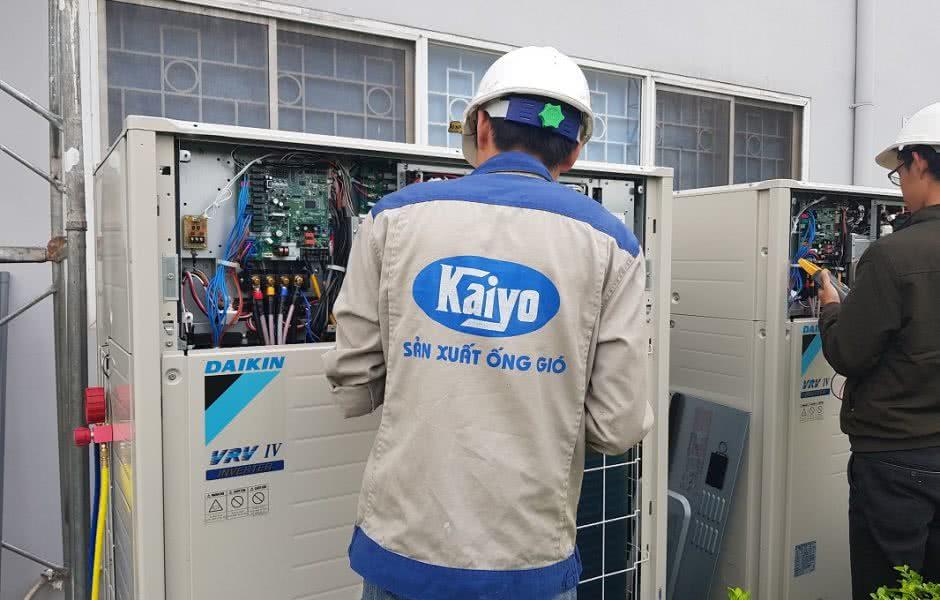 Hệ thống điều hòa trung tâm được lắp đặt bởi đơn vị Kaiyo Việt Nam