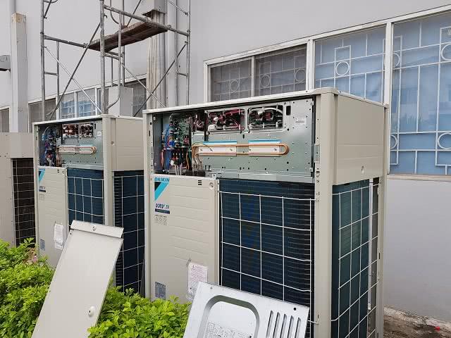 Hệ thống điều hòa trung tâm được lắp đặt hoàn chỉnh