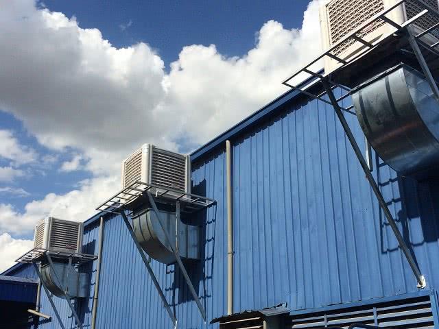 Hệ thống máy làm mát nhà xưởng được lắp đặt bởi Kaiyo Việt Nam
