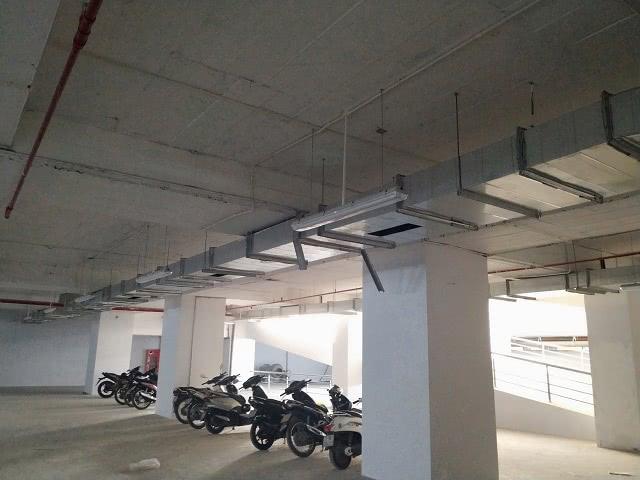Hệ thống ống thông gió được lắp đặt