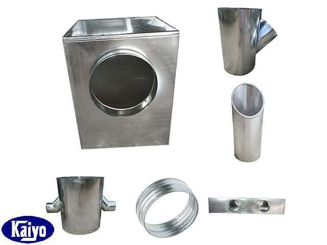 Một số sản phẩm phụ kiện ống gió tròn được sản xuất tại Kaiyo việt Nam