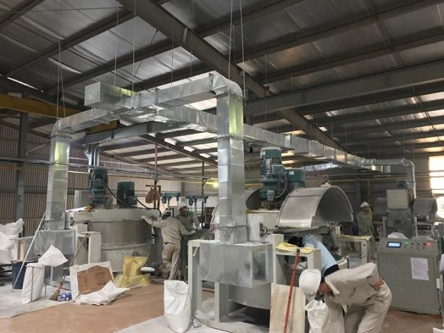Lắp đặt hoàn tất hệ thống hút mùi nhà xưởng