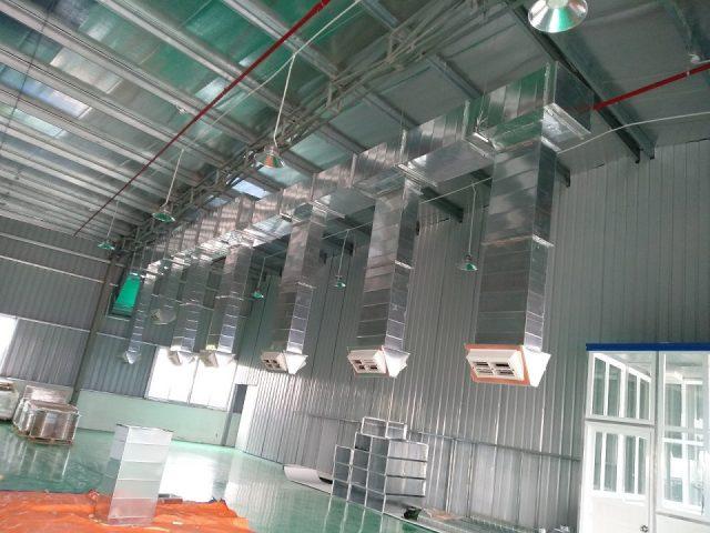 Sản phẩm cửa gió nhựa được lắp đặt trong hệ thống đường ống