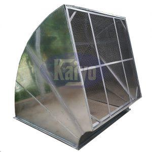 Sản phẩm cút vuông có lưới chắn côn trùng được tăng cứng