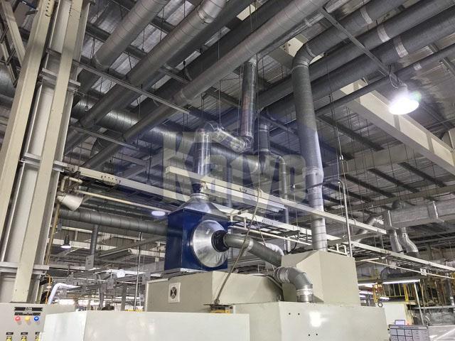 Hệ thống đường ống quạt hút được thay thế