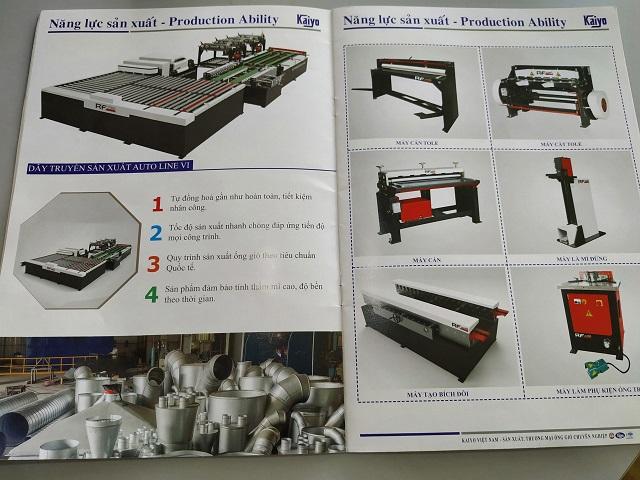Năng lực sản xuất trong catalogue