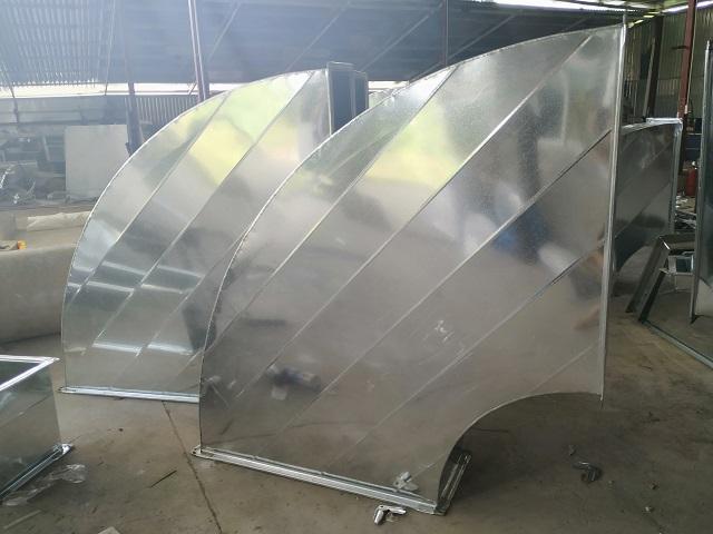 Thành phẩm cút gió vuông được gia công tại ống gió Kaiyo Việt Nam