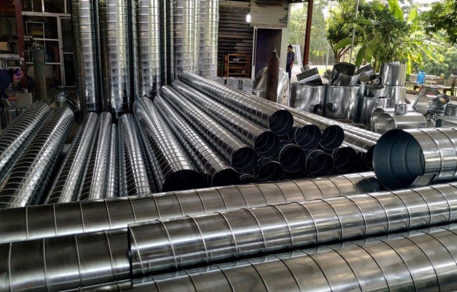 Ống gió tròn xoắn được sản xuất tại Kaiyo Việt Nam