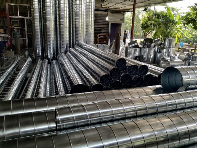 Sản phẩm ống gió tròn tôn mạ kẽm được sản xuất tại Kaiyo Việt Nam
