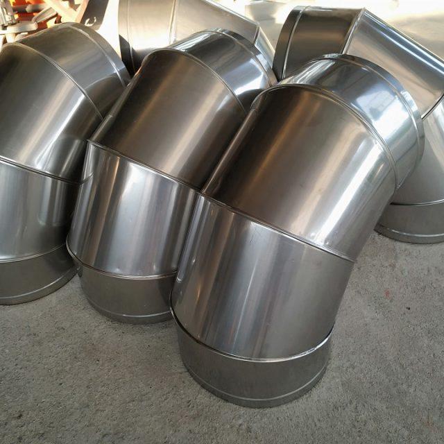 Phụ kiện cút gió tròn được sản xuất bởi ống gió Kaiyo