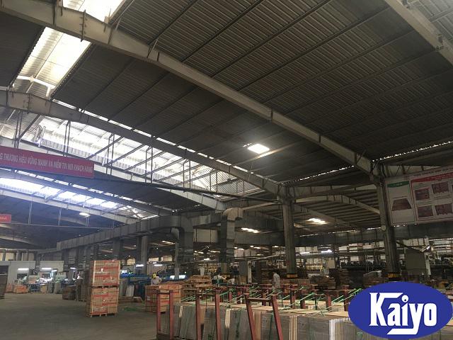 Hệ thống thông gió tại nhà máy gạch Tasa Phú Thọ