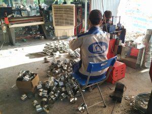 Hoạt động sản xuất phụ kiện ống gió tại Kaiyo Việt Nam