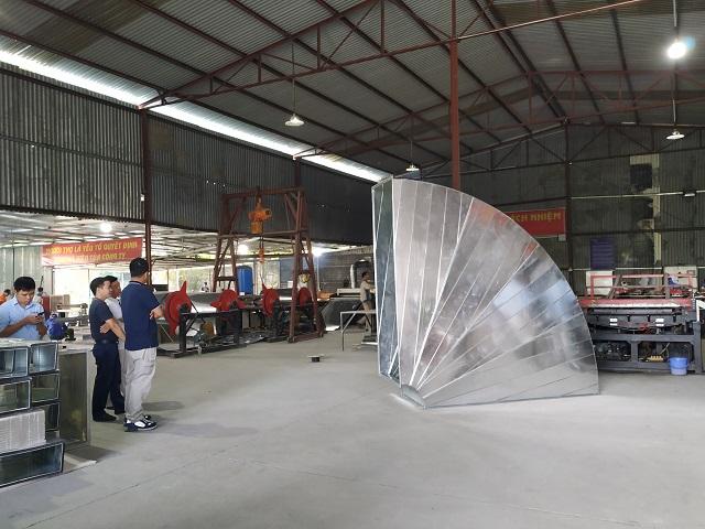 Gia công cút gió vuông kích thước lớn