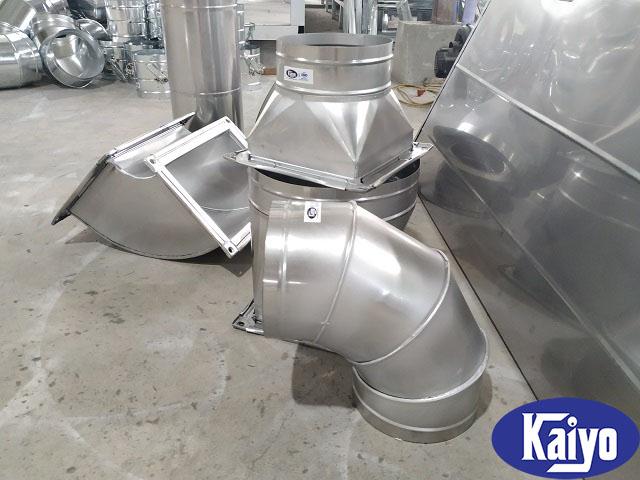 Thành phẩm của quá trình gia công phụ kiện ống gió inox