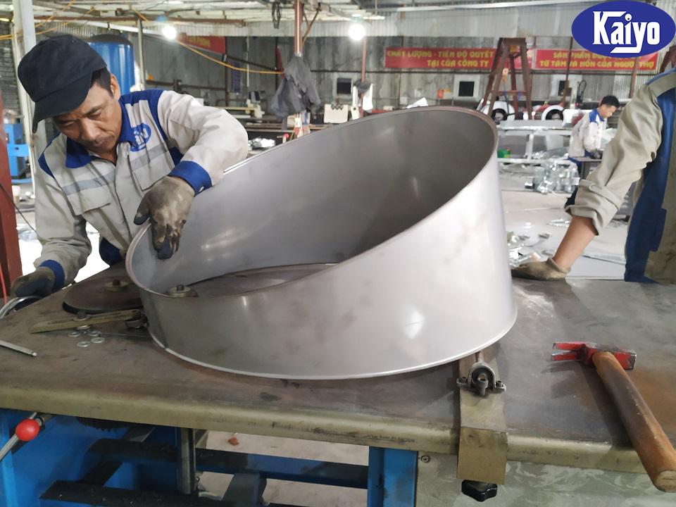 Cút gió tròn được gia công sản xuất tại Kaiyo Việt Nam