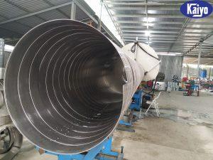 Sản phẩm ống gió tròn xoắn inox 304
